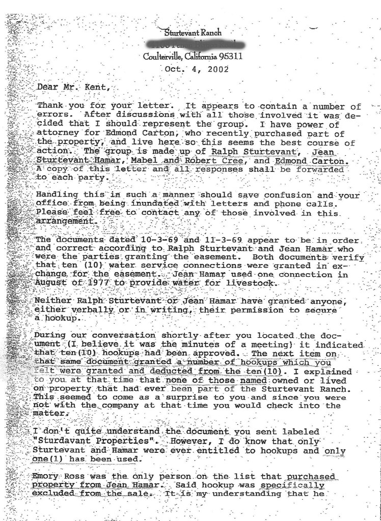 Sturtevant Letter p1o