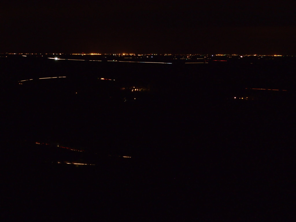 Looking southwest towards the old Castle AFB in Atwater. White line towards top is HWY 59 and to the right HWY 132.