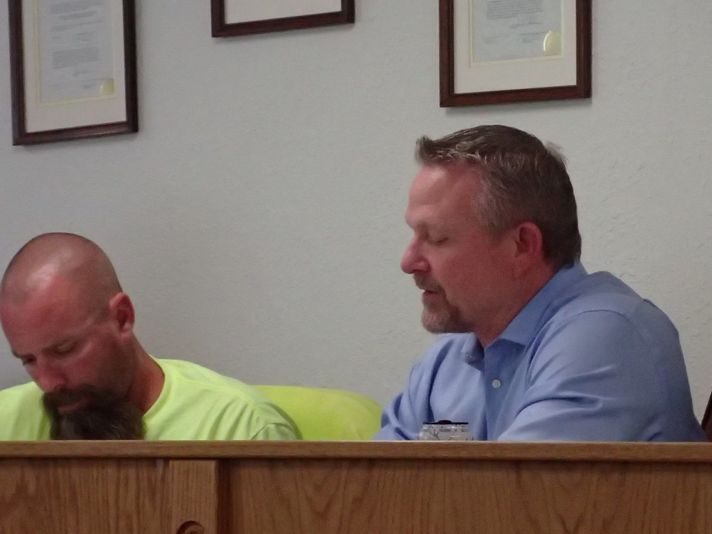 (L-R) Chief Plant Operator Randy Gilgo and of course, Pete Kampa