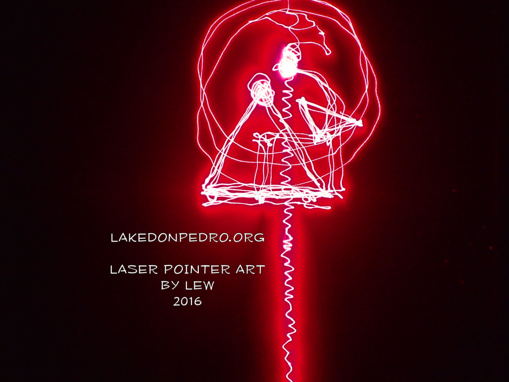 LASER POINTER ART BY LEW