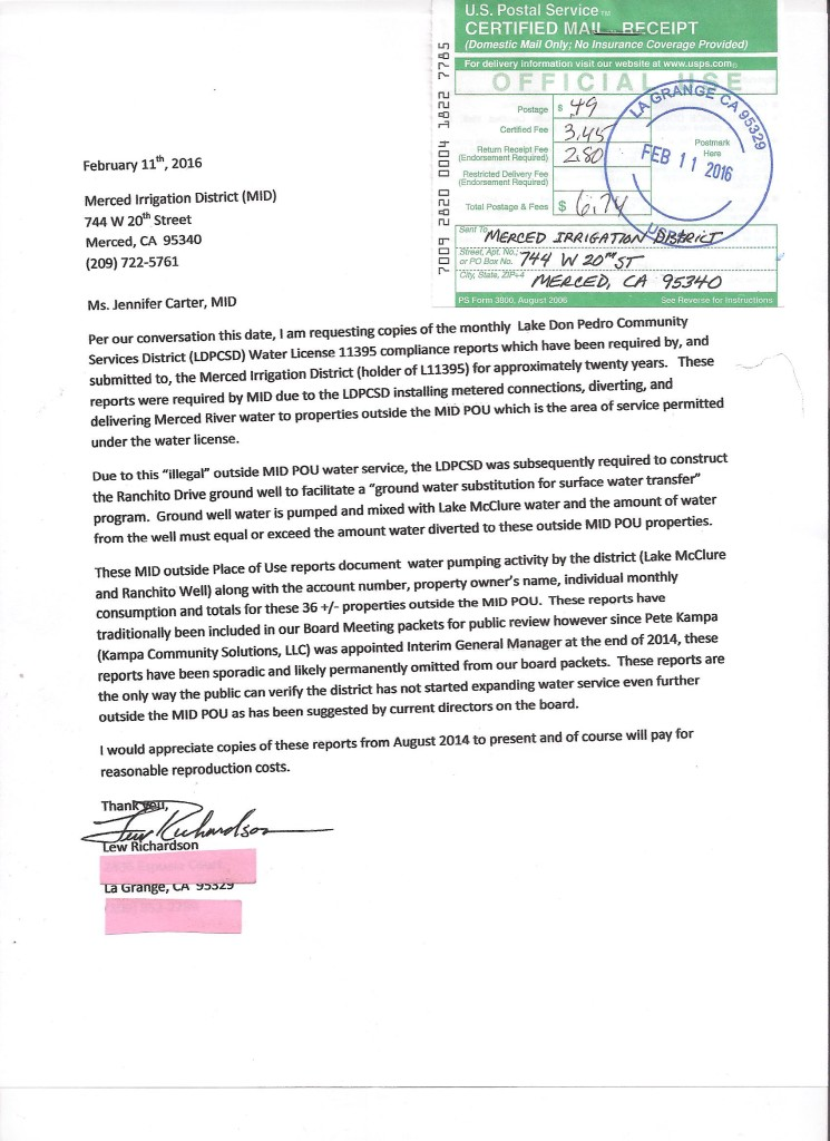 MID 411 request letter
