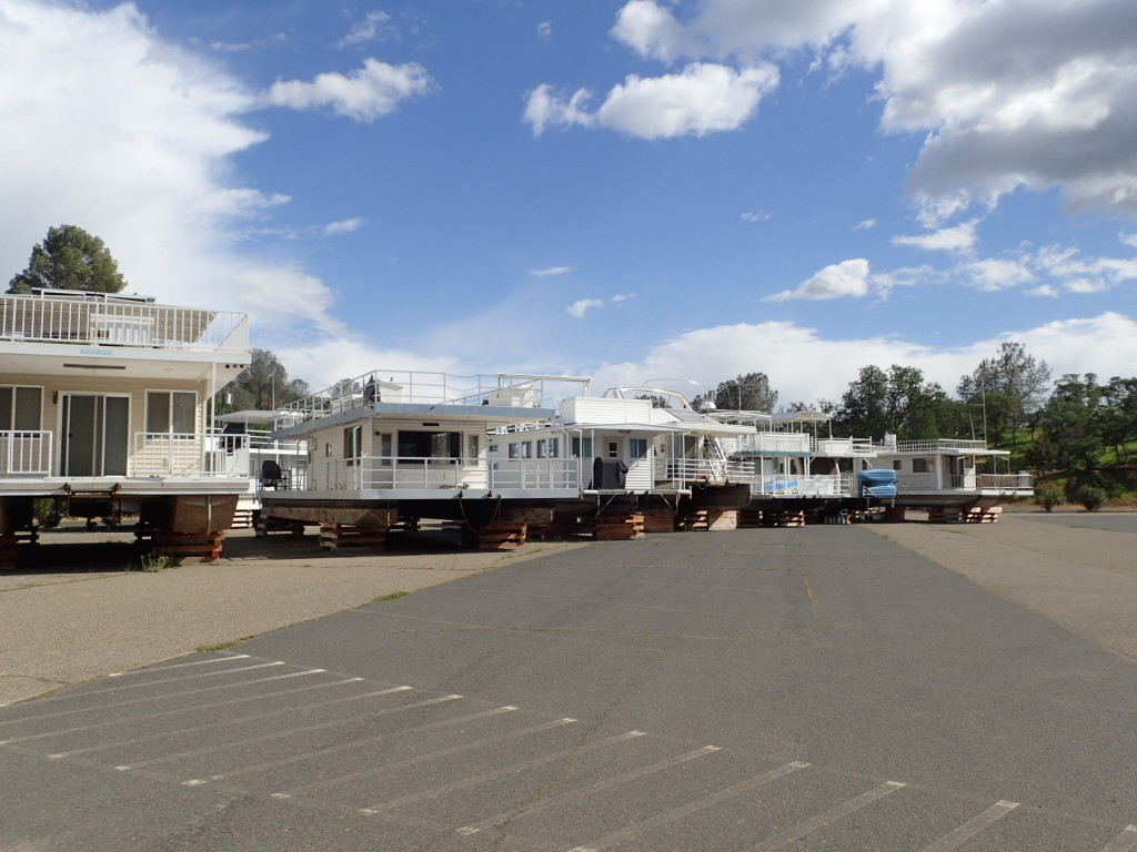 Houseboats still in parking lots