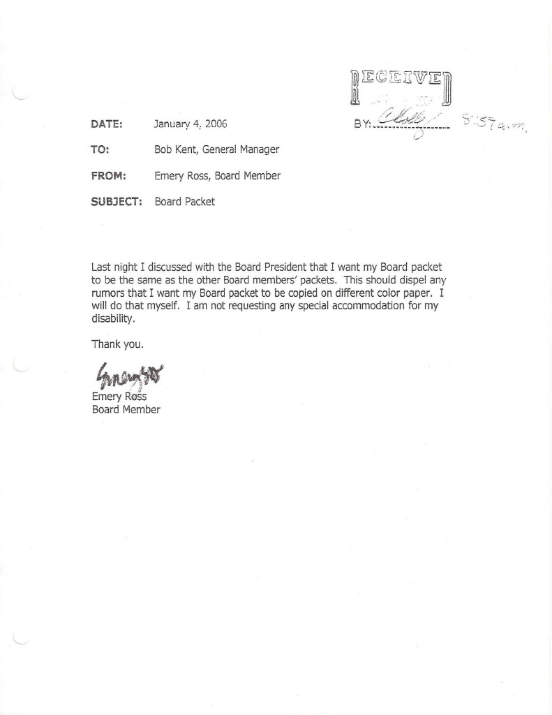 Ross Jan 4 2006 Resign Email 4 Board Packet