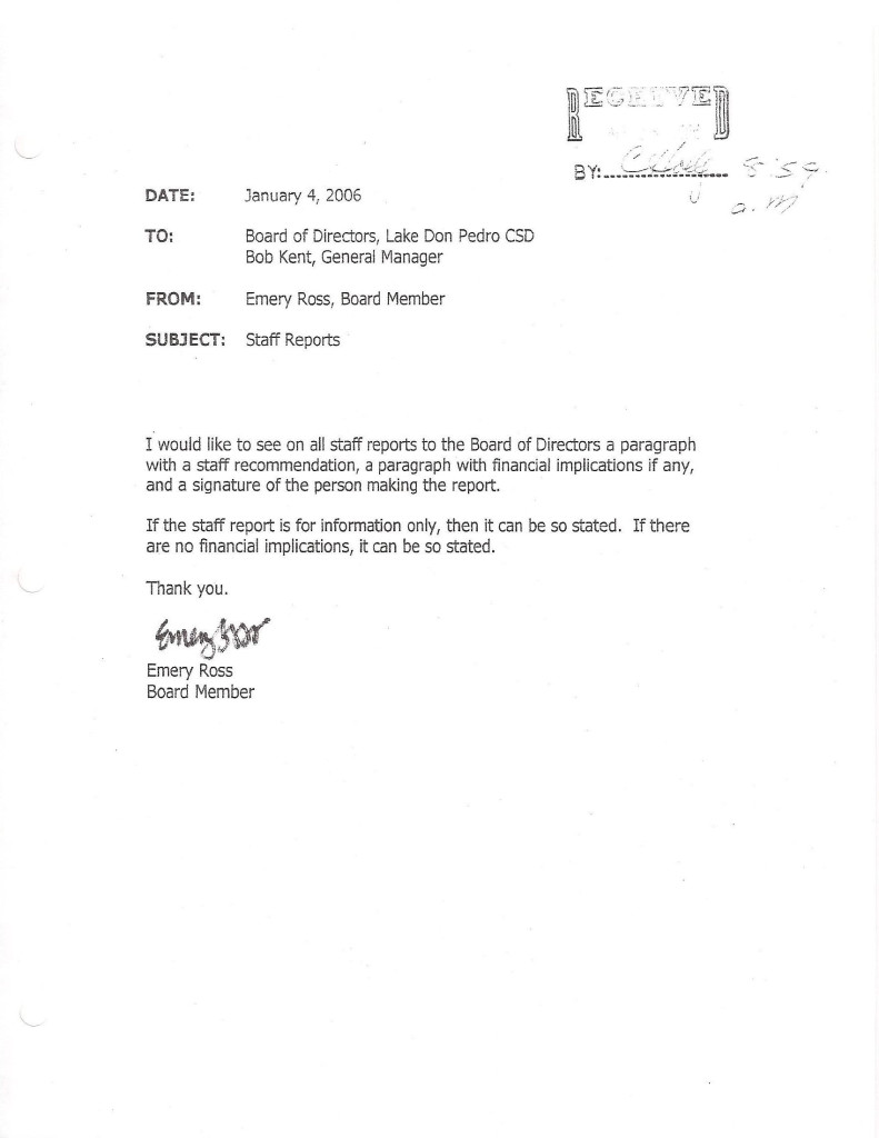 Ross Jan 4 2006 Resign Email 5 Staff Reports