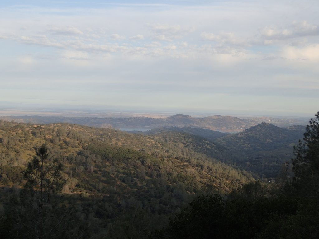 A look back at Lake McClure from Bear Valley Road