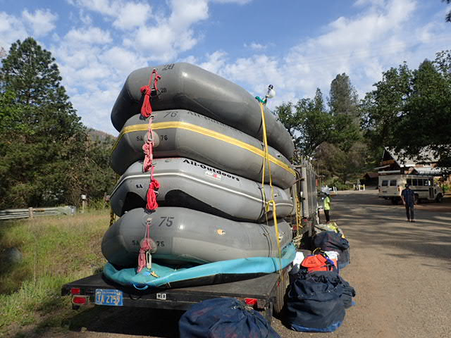 The four rafts for our group.